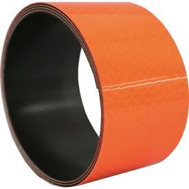 日東エルマテリアル Nitto L Materials 日東エルマテ プリズム反射マグネットシート 50mmX1M 蛍光オレンジ PHMG-50OR