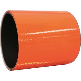 日東エルマテリアル Nitto L Materials 日東エルマテ プリズム反射マグネットシート 100mmX1M 蛍光オレンジ PHMG-100OR