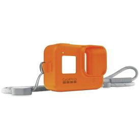 GoPro ゴープロ スリーブ+ランヤード for HERO8 AJSST-004 ハイパーオレンジ[ゴープロ ヒーロー8 アクセサリー 保護 ケース]