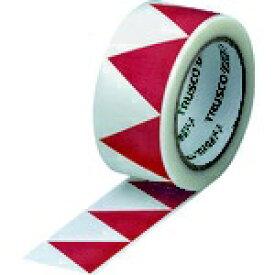 トラスコ中山 TRUSCO ギザギザクロステープ 50mm×25m 白赤 GZC-5025WR