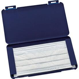 トラスコ中山 TRUSCO 携帯用樹脂製マスクケース 190X110X12mm ネイビー MSC-NV
