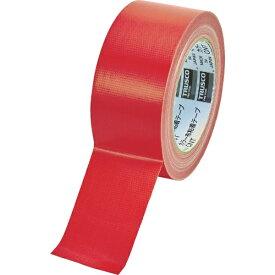 トラスコ中山 TRUSCO カラー布粘着テープ 幅50mm長さ25m レッド CNT-5025-R