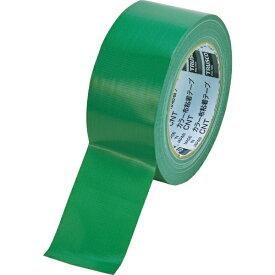 トラスコ中山 TRUSCO カラー布粘着テープ 幅50mm長さ25m グリーン CNT-5025-GN
