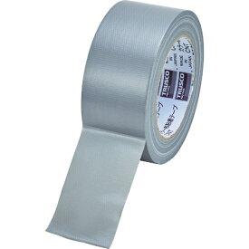 トラスコ中山 TRUSCO カラー布粘着テープ 幅50mm長さ25m シルバー CNT-5025-SV