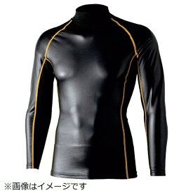 おたふく手袋 OTAFUKU GLOVE おたふく BT腕まで防風パワーストレッチ ハイネックシャツ ブラック/イエロー 3L JW-191-BK/YE-3L