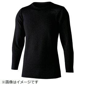 おたふく手袋 OTAFUKU GLOVE おたふく BT デュアルブラッシュド ヘビーウェイト クルーネックシャツ ブラック 3L JW-180-11-3L
