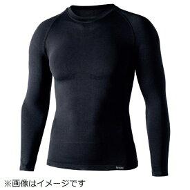 おたふく手袋 OTAFUKU GLOVE おたふく BTデュアルクロス ロングスリーブクルーネックシャツ ブラック S〜M JW-592-11-S~M