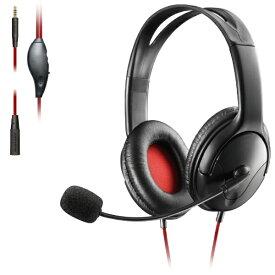 エレコム ELECOM 両耳オーバーヘッド 1.5m延長ケーブル付 PS4 Switch対応 ブラック HS-GM20BK【PS4/Switch】