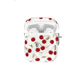 AREA エアリア KingXbar AirPods/Airpods2対応ケース スワロフスキー使用 フルーツ柄 Cherries ハードケース エアーポッズ ストラップホール付き KINGXBAR Cherries KXB-CH001