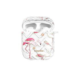 AREA エアリア KingXbar AirPods/Airpods2対応ケース スワロフスキー使用 動物柄 Flamingo2 ハードケース エアーポッズ ストラップホール付き KINGXBAR Flamingo2 KXB-FE004