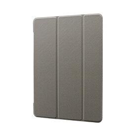 MSソリューションズ 10.2インチ iPad(第7世代)用 背面クリアフラップケース Clear Note LP-ITM19CNTGY グレー