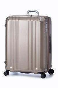 A.L.I アジア・ラゲージ スーツケース ハードキャリー 102L(120L) デカかるEdge シャンパンゴールド ALI-008-102 [TSAロック搭載]