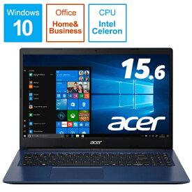 ACER エイサー A315-34-F14U/BF ノートパソコン Aspire 3 インディゴブルー [15.6型 /intel Celeron /SSD:256GB /メモリ:4GB /2019年11月モデル][A31534F14UBF]