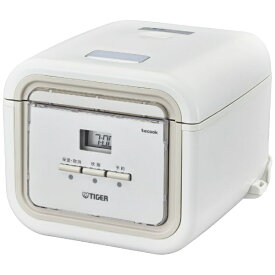 タイガー TIGER JAJ-G550-WN 炊飯器 炊きたて tacook(タクック) ナチュラルホワイト [3合 /マイコン][JAJG550]