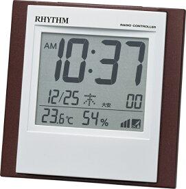 リズム時計 RHYTHM 目覚まし時計 【フィットウェーブD218】 8RZ218SR06 [デジタル /電波自動受信機能有]