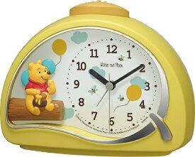 リズム時計 RHYTHM 目覚まし時計 くまのプーさん 黄(白) 4SE561MC33 [アナログ]