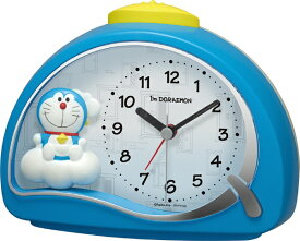 リズム時計 RHYTHM 目覚まし時計 アイムドラえもん 青(白) 4SE561DR04 [アナログ]