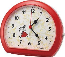 リズム時計 RHYTHM 目覚まし時計 リトルミイ 赤(白) 4SE562MT01 [アナログ]