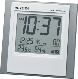 リズム時計 RHYTHM 目覚まし時計 【フィットウェーブD218】 8RZ218SR19 [デジタル /電波自動受信機能有]