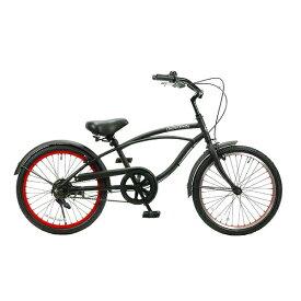FEELING OF DECKS フィーリング オブ デックス 20型 子供用自転車 FEELING of DECKS FOD 20(マットブラックxレッドリム/シングルシフト)【組立商品につき返品不可】 【代金引換配送不可】