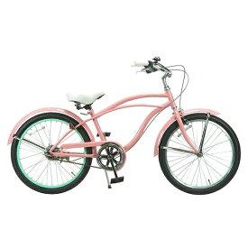 FEELINGOFDECKS 22型 子供用自転車 FEELING of DECKS FOD 22(ピンクxグリーンリム/シングルシフト)【組立商品につき返品不可】 【代金引換配送不可】