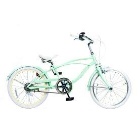 FEELING OF DECKS フィーリング オブ デックス 20型 子供用自転車 FEELING of DECKS FOD 20(ミントxホワイトリム/シングルシフト)【組立商品につき返品不可】 【代金引換配送不可】