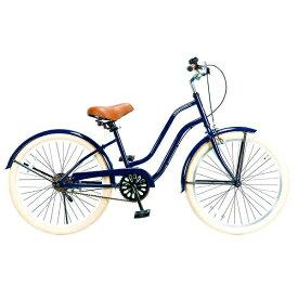 FEELINGOFDECKS 24型 自転車 FEELING of DECKS FOD 24(ネイビーxホワイトリム/シングルシフト)【組立商品につき返品不可】 【代金引換配送不可】