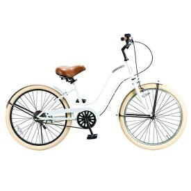 FEELING OF DECKS フィーリング オブ デックス 24型 自転車 FEELING of DECKS FOD 24(ホワイトxブラックリム/シングルシフト)【組立商品につき返品不可】 【代金引換配送不可】