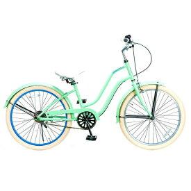 FEELING OF DECKS フィーリング オブ デックス 24型 自転車 FEELING of DECKS FOD 24(ミントxブルーリム/シングルシフト)【組立商品につき返品不可】 【代金引換配送不可】