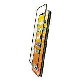 エレコム ELECOM iPhone 11 Pro フルカバーガラスフィルム フレーム付 ブラック PMCA19BFLGFRBK