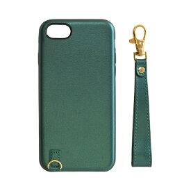 ラスタバナナ RastaBanana iPhone SE(第2世代)4.7インチ/ iPhone8/7/6s/6共用 ストラップ付キレザーケース 5214IP747HD グリーン