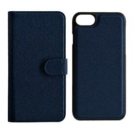 ラスタバナナ RastaBanana iPhone SE(第2世代)4.7インチ/ iPhone8/7/6s/6共用 2WAY手帳型ケース 5216IP747BO ネイビー