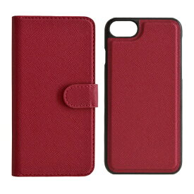 ラスタバナナ RastaBanana iPhone SE(第2世代)4.7インチ/ iPhone8/7/6s/6共用 2WAY手帳型ケース 5218IP747BO マゼンタ