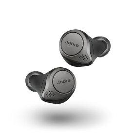 JABRA ジャブラ フルワイヤレスイヤホン Elite 75t Titanium Black 100-99090000-40 [リモコン・マイク対応 /ワイヤレス(左右分離) /Bluetooth /ノイズキャンセリング対応][ELITE75T]【rb_cpn】