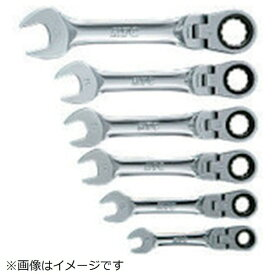 京都機械工具 KYOTO TOOL KTC ショートラチェットコンビネーションレンチセット首振りタイプ[6本組] TMSR2S06