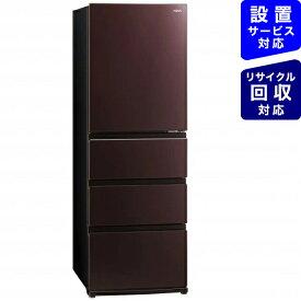 AQUA アクア 《基本設置料金セット》AQR-VZ43J-T 冷蔵庫 Delie(デリエ) クリアモカブラウン [4ドア /右開きタイプ /430L][冷蔵庫 大型 AQRVZ43J_T]