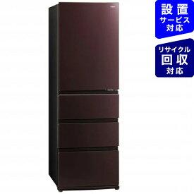AQUA アクア 《基本設置料金セット》AQR-VZ46J-T 冷蔵庫 Delie(デリエ) クリアモカブラウン [4ドア /右開きタイプ /458L][冷蔵庫 大型 AQRVZ46J_T]