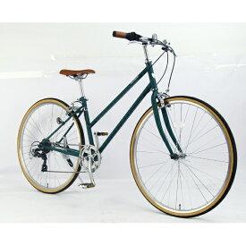 サイモト自転車 SAIMOTO 700C クロスバイク コラットシェリー(リーフグリーン/フレームサイズ:420mm) CR-W7007C-BC-B【組立商品につき返品不可】【point_rb】 【代金引換配送不可】
