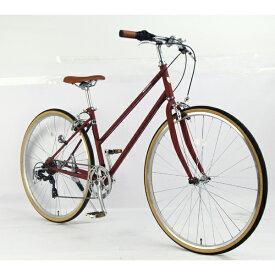 サイモト自転車 SAIMOTO 700C クロスバイク コラットシェリー(クラシカルレッド/フレームサイズ:420mm) CR-W7007C-BC-B【組立商品につき返品不可】【point_rb】 【代金引換配送不可】