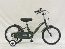 アサヒサイクル Asahi Cycle 16型 幼児用自転車 Goteborg ヨーテボリ(半ツヤカーキグリーン/シングルシフト) CBC16 #211【組立商品につき返品不可】 【代金引換配送不可】
