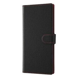 レイアウト rayout Galaxy Note10+ 手帳 ソフト マグネット/ブラック/レッド
