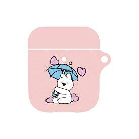 UI ユーアイ すこぶる動くウサギ AirPodsケース ピンク01