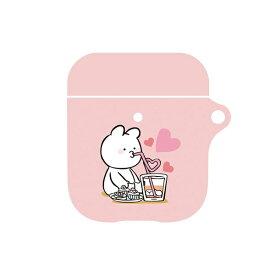 UI ユーアイ すこぶる動くウサギ AirPodsケース ピンク02