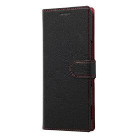 レイアウト rayout Xperia 5 手帳 シンプル マグネット スリープ対応/ブラック/レッド