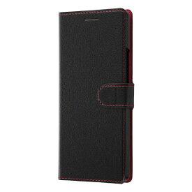レイアウト rayout Xperia 8 手帳 シンプル マグネット スリープ対応/ブラック/レッド