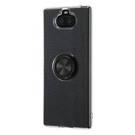 イングレム Ingrem Xperia 8 TPUソフトケース リング付/ブラック IN-RXP8TC30/BM ブラック