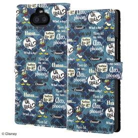 イングレム Ingrem Xperia 8 『ディズニーキャラクター』/手帳型アートケース マグネット/ドナルド_001 IN-RDXP8MLC2/DD001 ドナルド_001