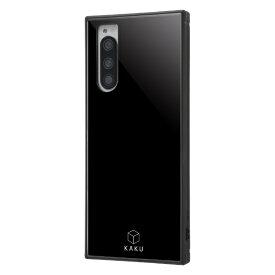 イングレム Ingrem Xperia 5 耐衝撃ハイブリッドケース KAKU/ブラック IQ-RXP5K3TB/B ブラック