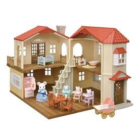 エポック社 EPOCH シルバニアファミリー 19-RI1 赤い屋根の大きなお家 デラックス - すくすくみつごちゃんセット -