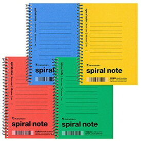 マルマン maruman [メモ] スパイラルノート spiral note M.C.B. 1961(A6変型・6mm横罫 /18行 /50枚)【色指定不可】 N670AM 色込